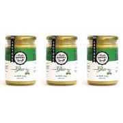 Kit 3 Manteiga Ghee 300g Ervas finas Clarificada Zero Lactose Zero Gluten