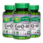 Kit 3 x Coenzima Q10 100 Mg 60 Cápsulas Unilife