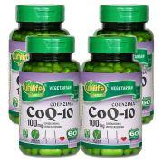 Kit 4 Coenzima Q10 100 Mg 60 Cápsulas Unilife