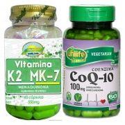 Kit Coenzima Q10 60 Cp + Vitamina K2 Mk7 60 Cps Menaquinona