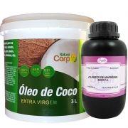 Óleo De Côco Extra Virgem 3L + Cloreto De Magnésio Pa 1 Kg