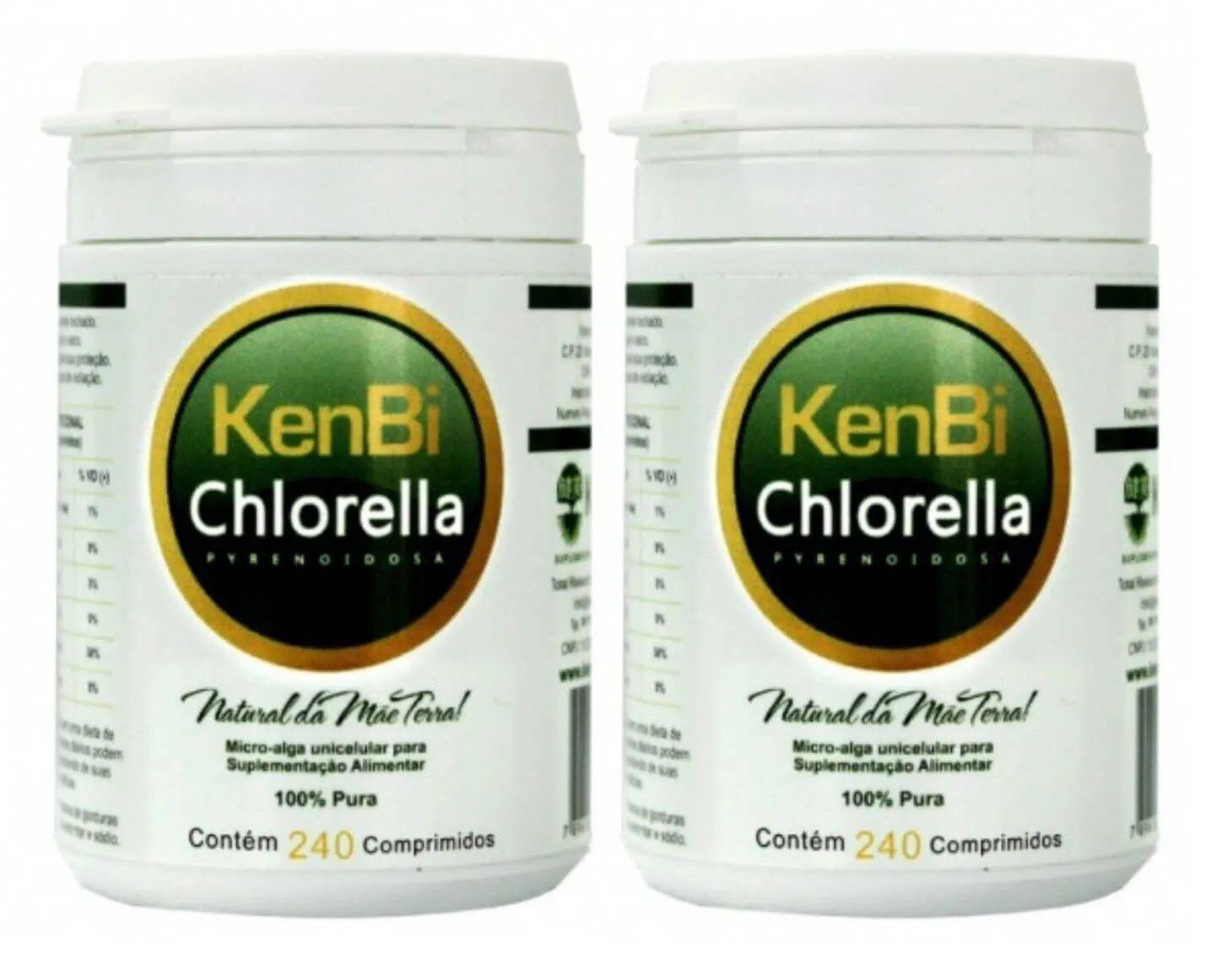 2x Chlorella Kenbi 240 Comprimidos 100% Chlorella - Total 480