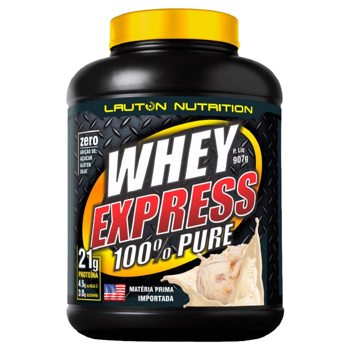 2x Whey Protein Express Lauton Nutrition 100% Pure 907g