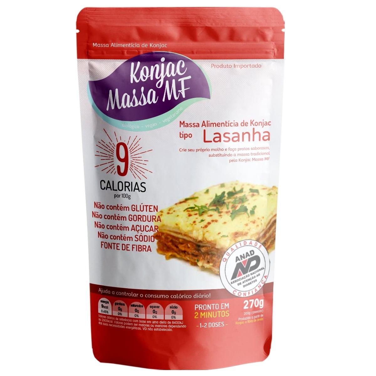 3 Lasanha Milagrosa Konjac  270g 9 Kcal Emagreça Comendo