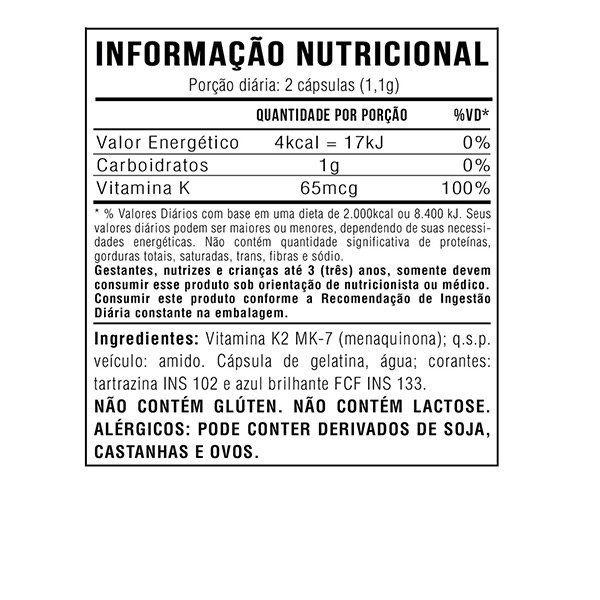 3x Vitamina K2 Mk7 Menaquinona 60 Cápsulas