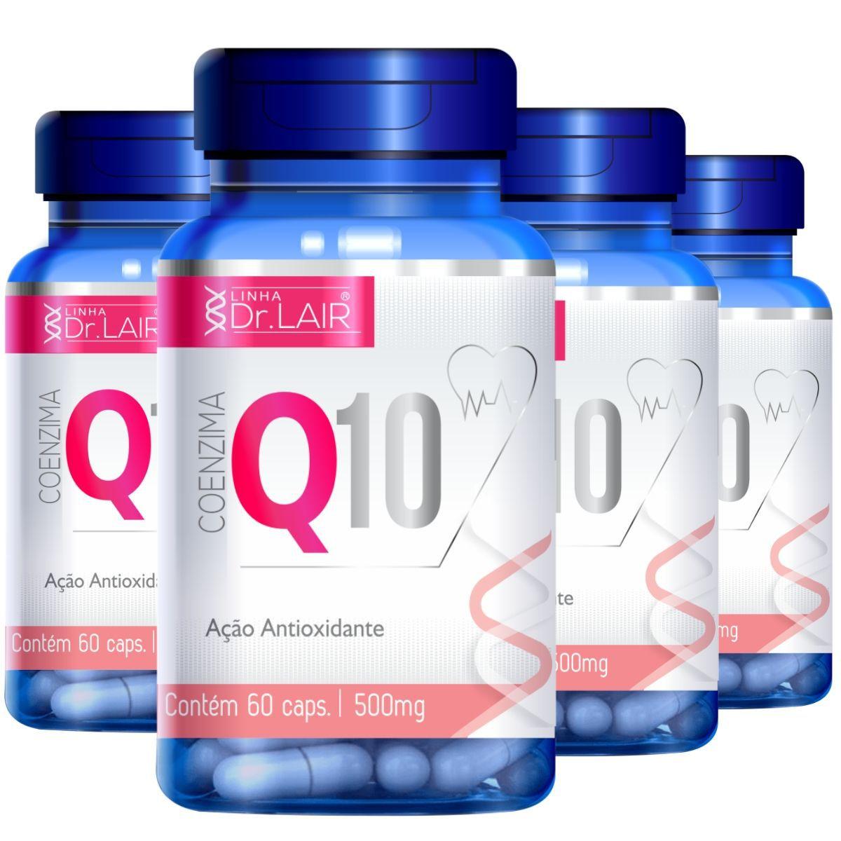 4x Coenzima Q10 Ubiquinona + Vitamina C e Cólageno Hidrolisado 60 Cáps Dr. Lair - Upnutri