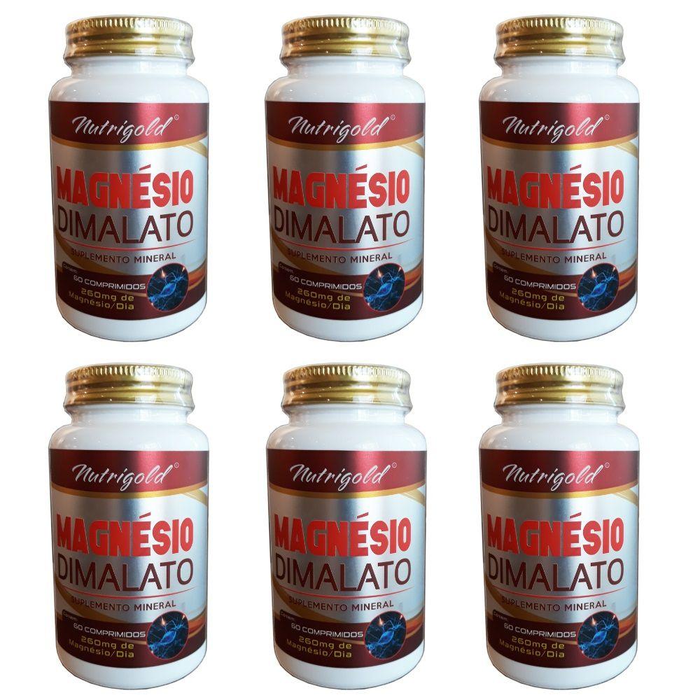 6 x Magnesio Dimalato 60 Comprimidos