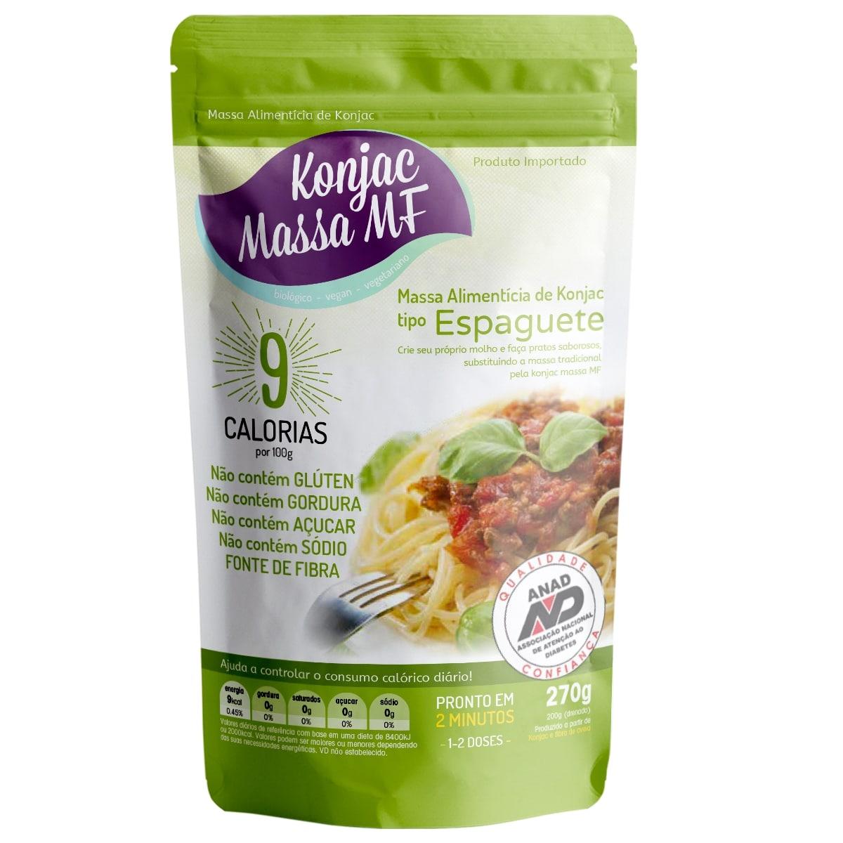 7 Espaguete Milagroso Konjac  270g 9 Kcal Emagreça Comendo