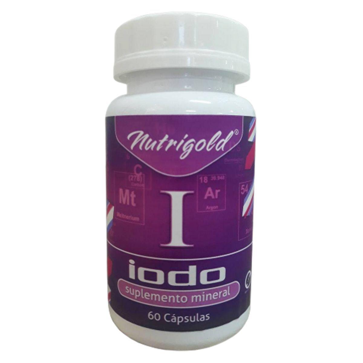 8 x Iodo inorgânico - Lugol em Cápsulas 60 Caps 650 mg