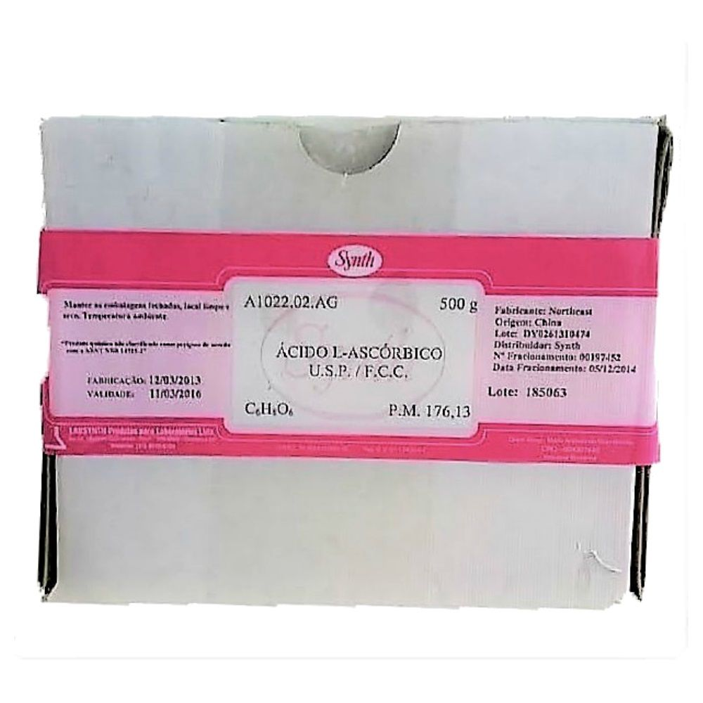 Acido Ascórbico - Vitamina C USP 500g Com Laudo