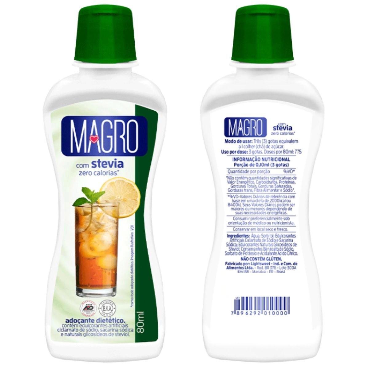 Adoçante C/ Stevia Magro Liq 80ml