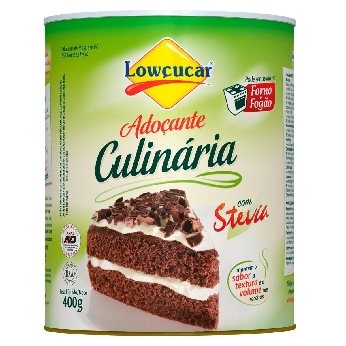 Adoçante Culinária C/ Stevia 400g Forno e Fogão  Lowçucar Plus
