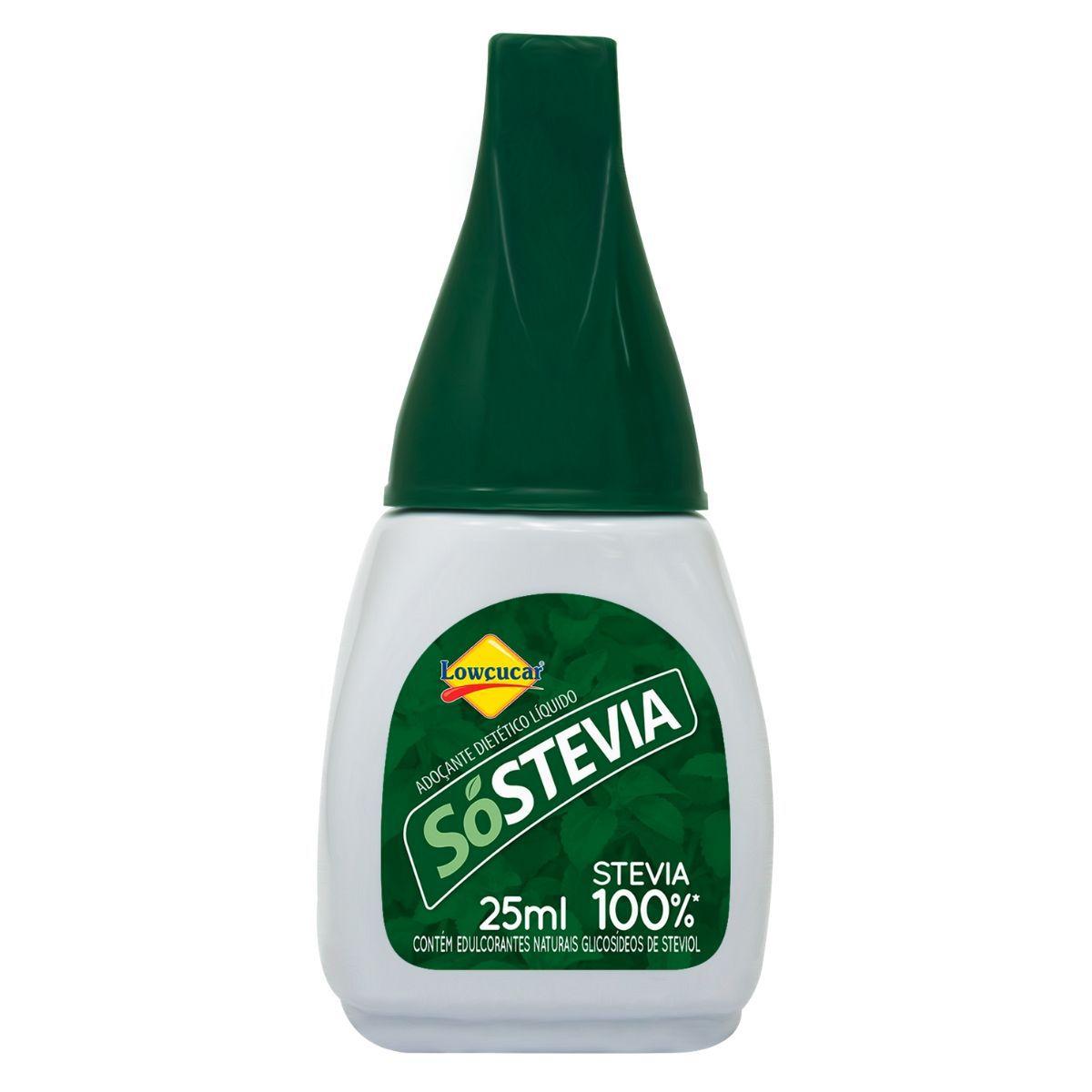 Adoçante Dietético SóStevia Liq 25ml - Lowçucar