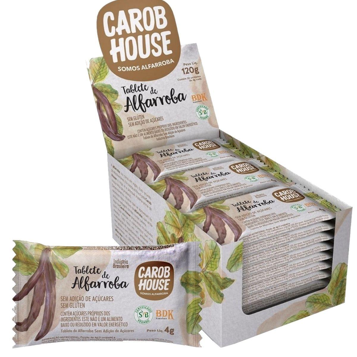 Alfarroba Em Tablete 4g Caixa C/ 30 Barras - Carob House