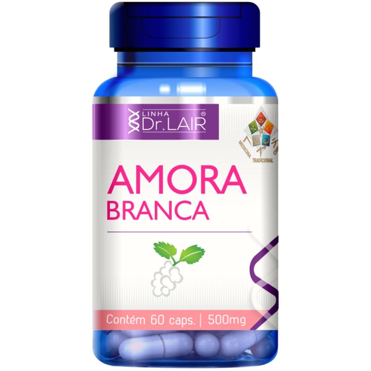 Amora Branca Vitaminas e Minerais 60 Cápsulas 500mg Dr. Lair - Upnutri
