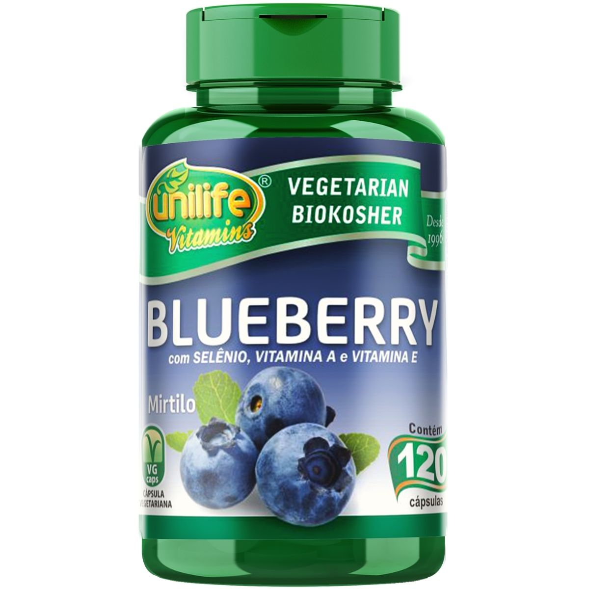 Blueberry Mirtilo Antioxidante 120 Cápsulas 550mg - Unilife