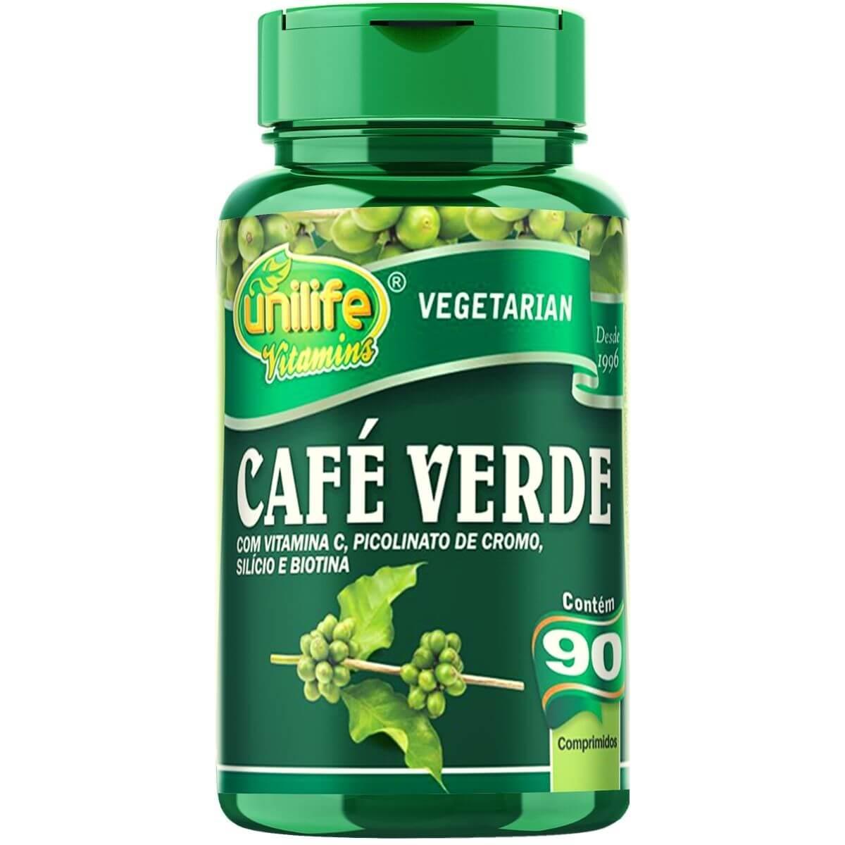 Café Verde Unilife com Vitaminas e Minerais - 90 Comprimidos 400mg