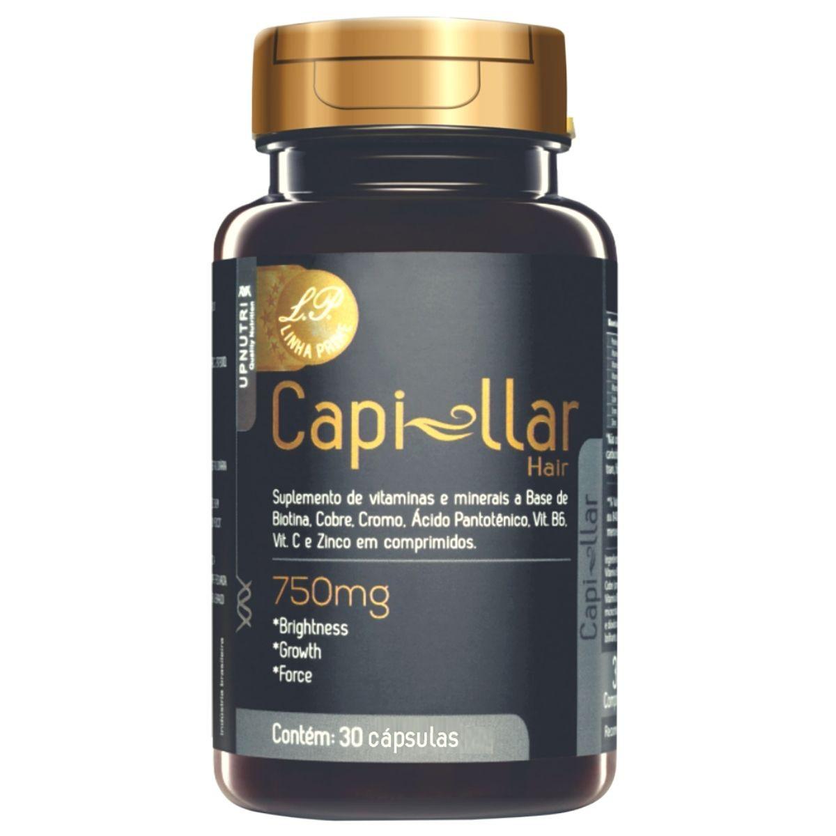 Capillar Hair Prime 30 Cápsulas 500mg Upnutri - Crescimento Capilar