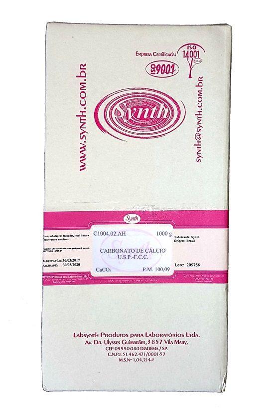 Carbonato de Cálcio USP 1Kg C/ Laudo de Pureza Synth