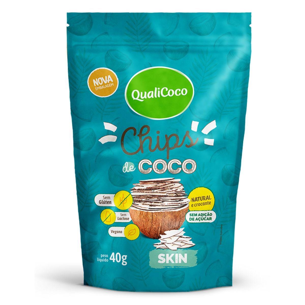 Chips De Coco Skin Snack Crocante  - QualiCoco