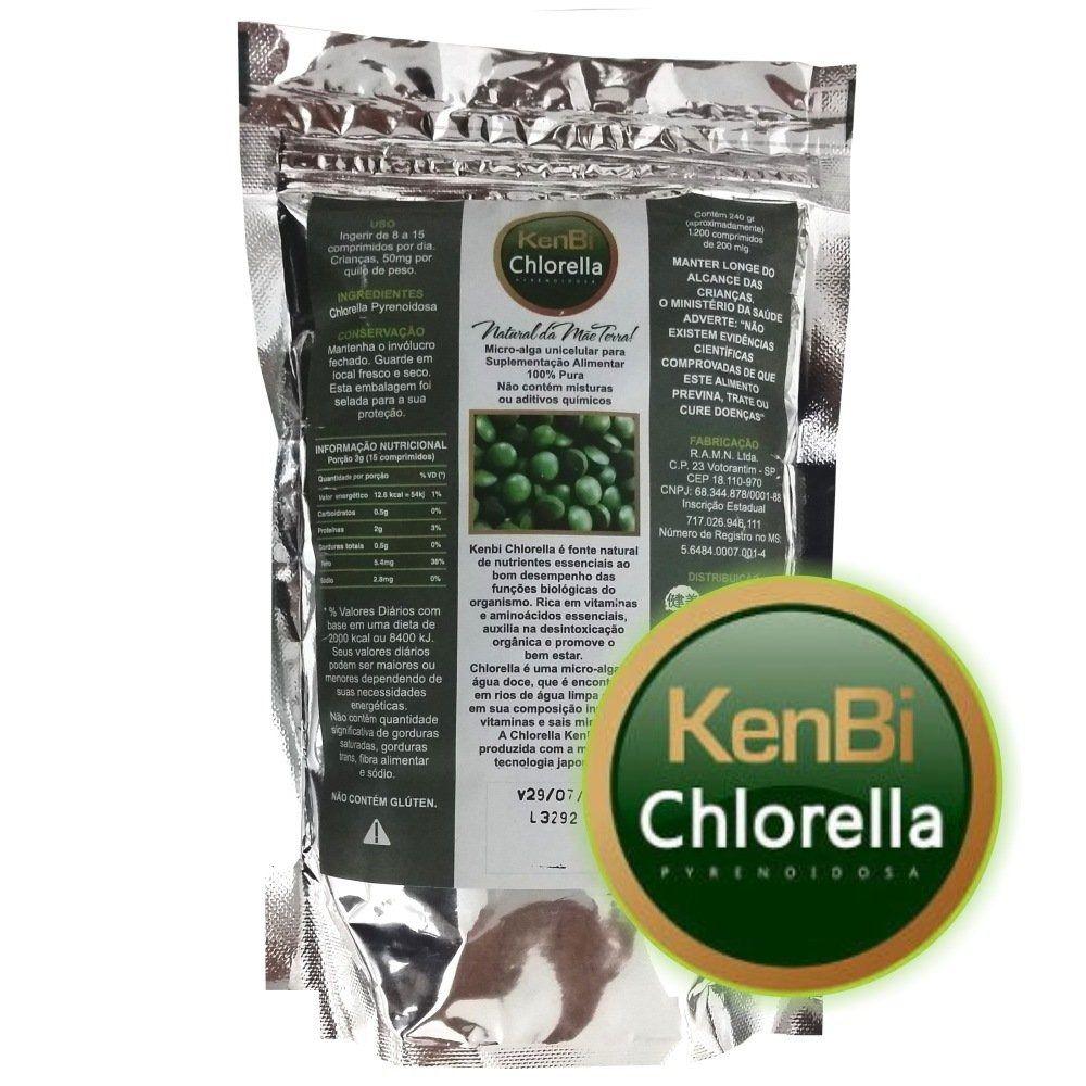 Chlorella Kenbi 1200 Comprimidos 100% Chlorella -  Super Alimento +