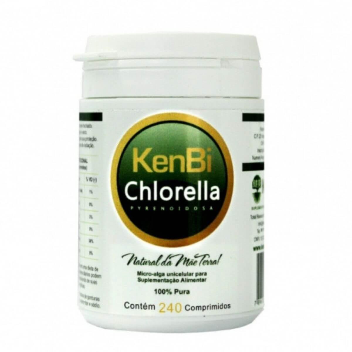 Chlorella Kenbi 240 Comprimidos 100% Chlorella