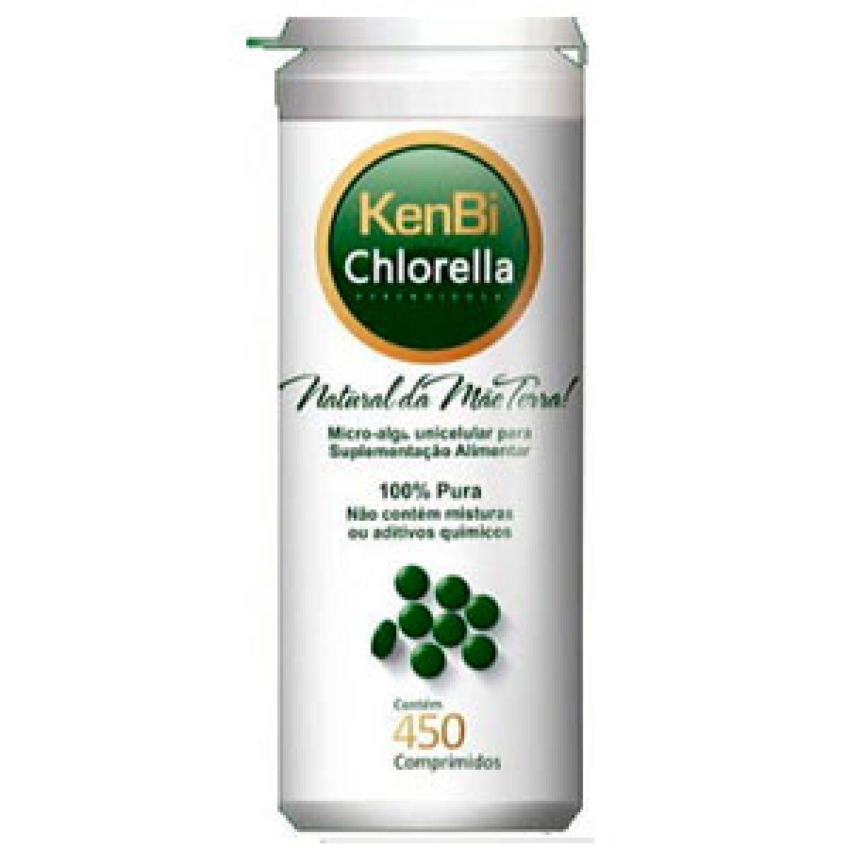 Chlorella Kenbi 450 Comprimidos 100% Chlorella