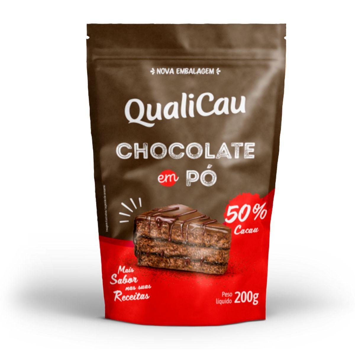 Chocolate Em Pó 50% Cacau 200g - QualiCoco
