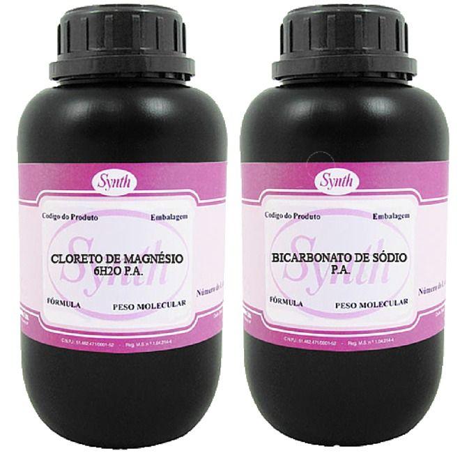 Cloreto De Magnésio Pa 500g + Bicarbonato De Sódio Pa 1 Kg