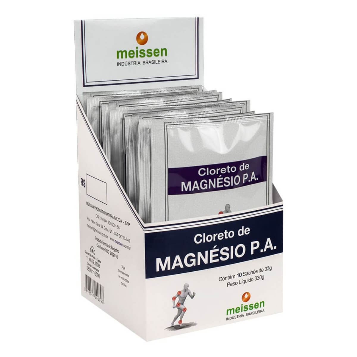Cloreto De Magnésio Pa Caixa C/ 10 Sachê De 33g - Meissen