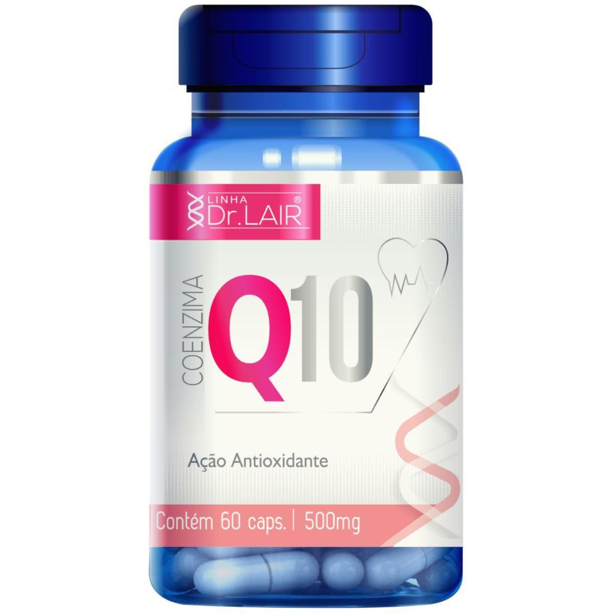 Coenzima Q10 Ubiquinona + Vitamina C e Cólageno Hidrolisado 60 Cápsulas 500mg Dr. Lair - Upnutri