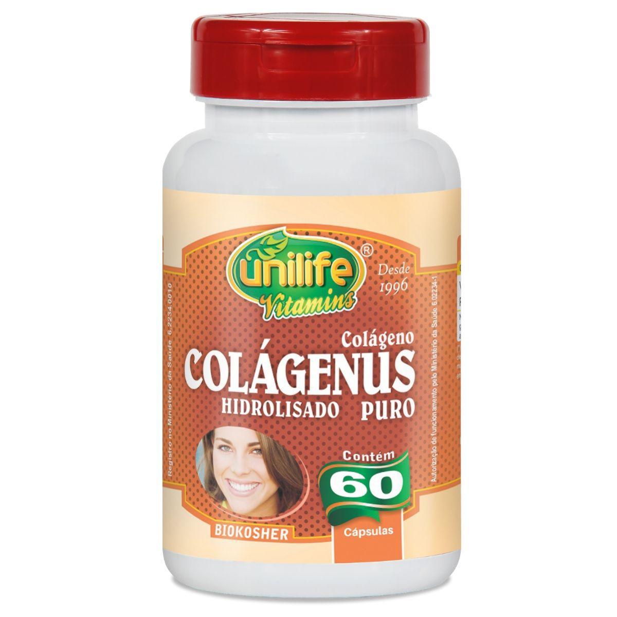 Colágeno Hidrolisado Puro 450mg 60 capsulas - Unilife