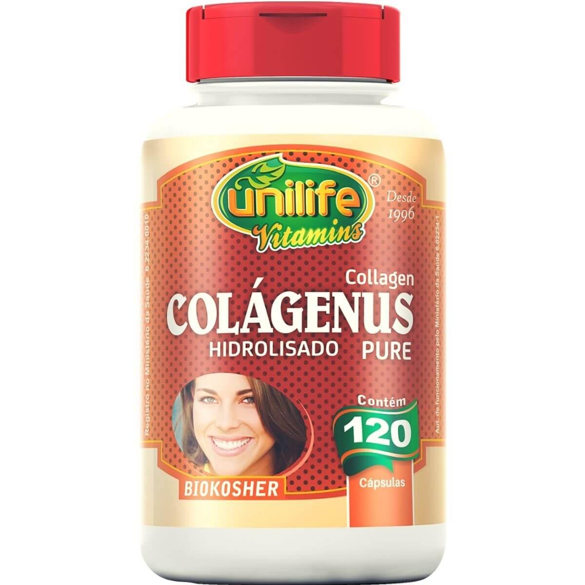 Colágeno Hidrolisado Puro 120 Cápsulas - Unilife