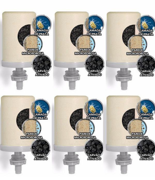 Kit  6 Velas Tripla Ação Esterilizante Stefani Com Prata Coloidal