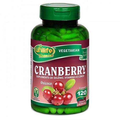 Cranberry Antioxidante 500mg 120 Cápsulas - Unilife