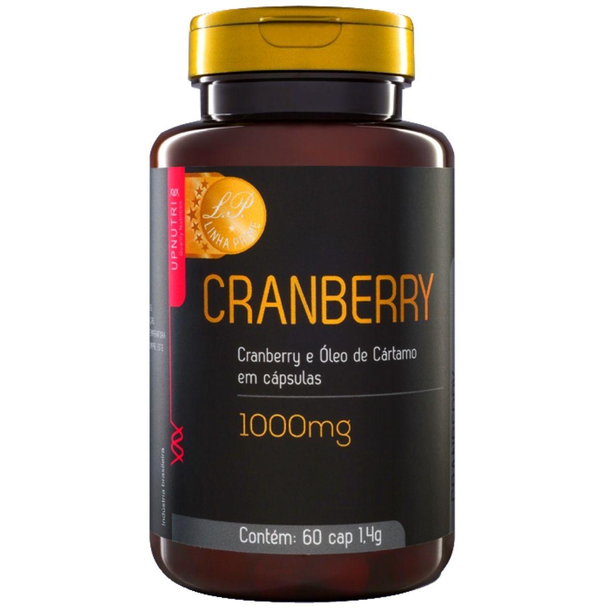 Cranberry e Óleo de Cártamo 1000mg 60 Cápsulas - Upnutri Prime