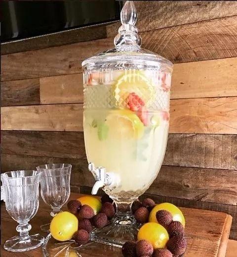 Dispenser / Suqueira Brandon 4,9 Litros Em Cristal L'Hermitage
