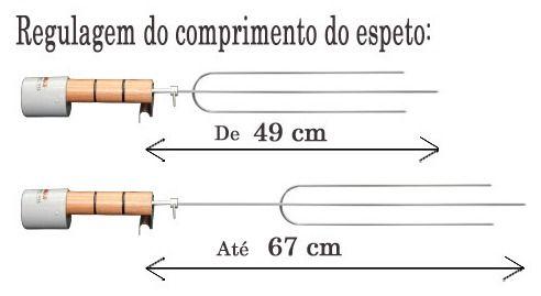 Espeto Giratório Portátil Elétrico 110 /220 V