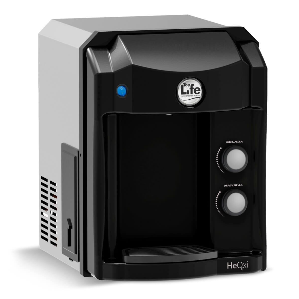 Filtro Purificador Alcalino e Ionizado Com Ozônio Top Life - Preto 110V - Frete Grátis -10x Sem Juros