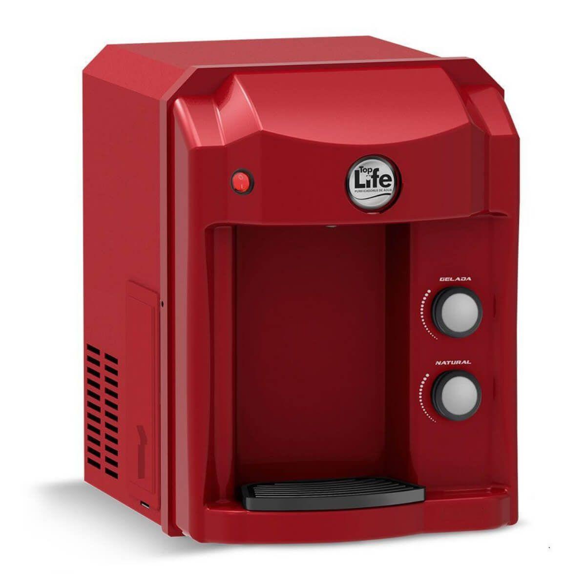 Filtro Purificador Alcalino e Ionizado Com Ozônio Top Life - Vermelho 110V - Frete Grátis