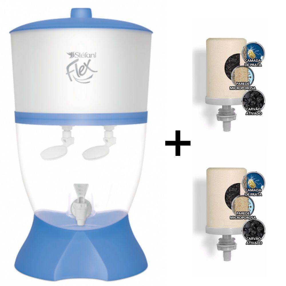 Filtro Stefani Flex Azul 6 Litros 2 Bóias + 2 Velas Tripla Ação
