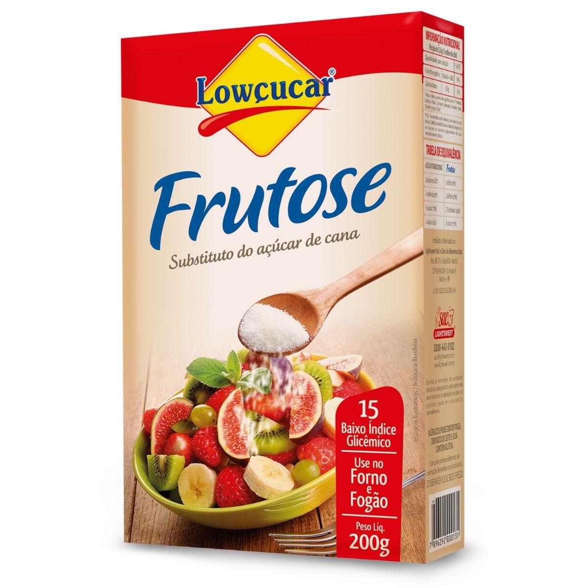 Frutose Substituto Do Açúcar 200g - Lowçucar Plus