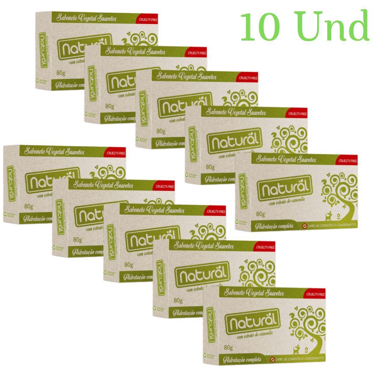 Kit 10 Sabonete Contente Com ingredientes Organicos e Naturais 80gr - Suavetex