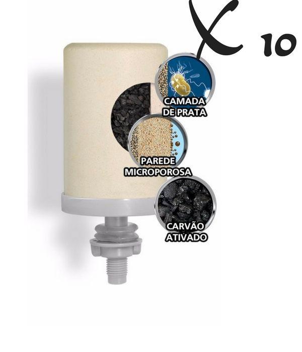 Kit 10 Velas Tripla Ação Esterilizante Stefani Com Prata Coloidal