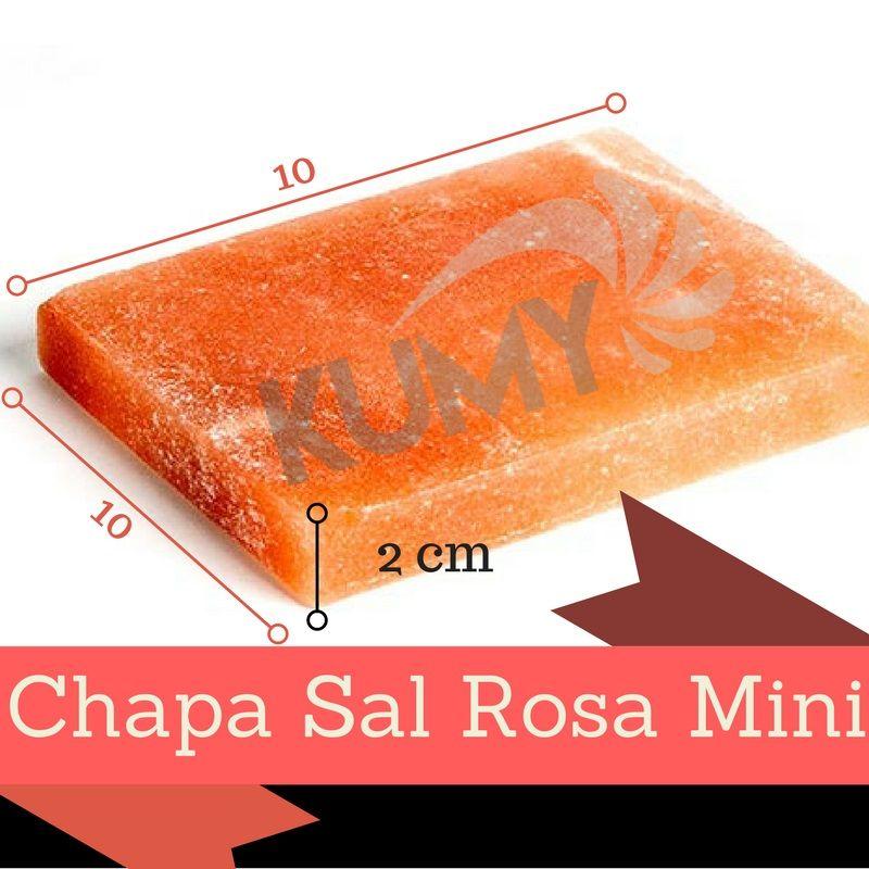 Kit 1 Pedra De Sal Rosa Do Himalaia 30 x 20 x 4 Cm + Pedra De Sal Rosa Mini 10 x 10 x 2
