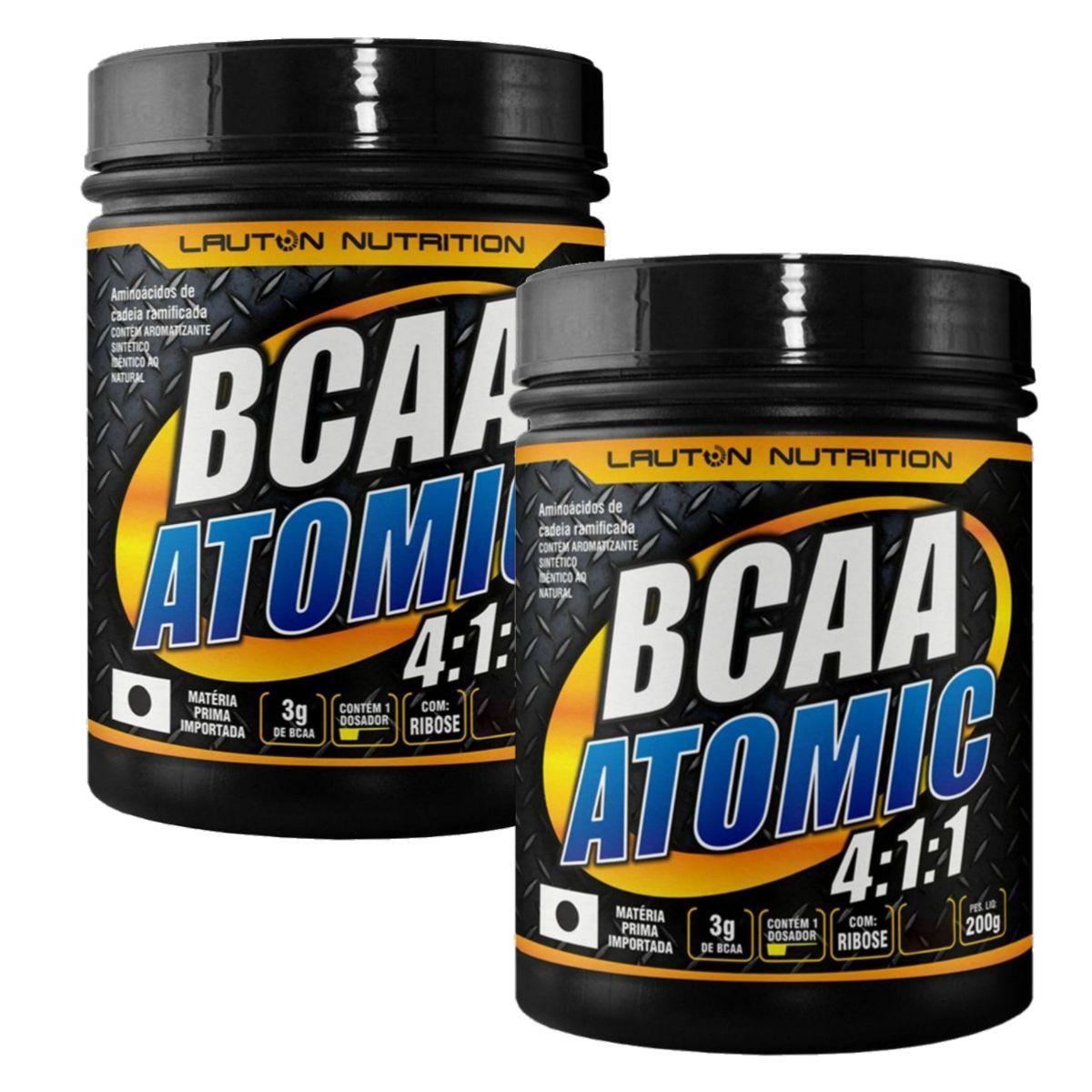 Kit 2 BCAA Atomic 4:1:1 200g - Lauton Nutrition