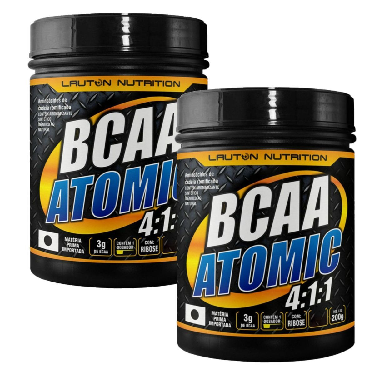 Kit 2 BCAA Atomic 4:1:1 200g - Lauton Nutrition