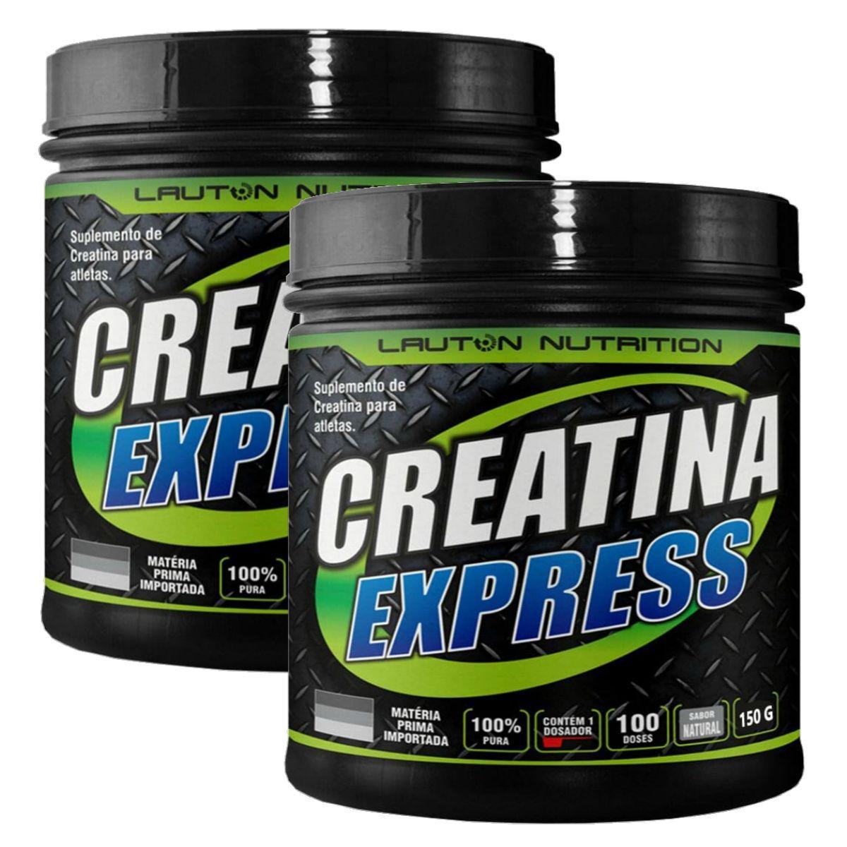 Kit 2 Creatinas Express 100% Pura 100g - Lauton Nutrition