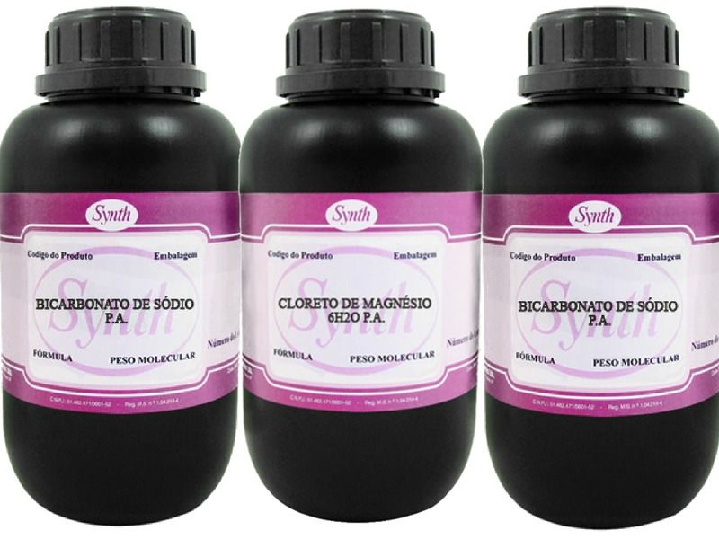 Kit 2 Kg Bicarbonato De Sodio Pa + 1 Kg Cloreto De Magnesio Pa  - Synth