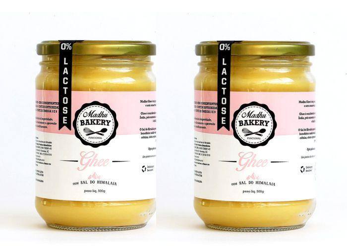 Kit 2 Manteiga Ghee 300g  Sal Rosa do Himalaia Clarificada Zero Lactose Zero Gluten